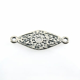 Sterling Silver Diamond Link