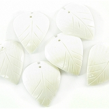 White Litub Shell Leaf Pendants