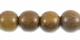 Round Robles Wood Beads 10mm