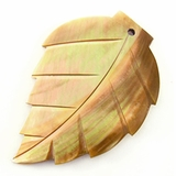 Brownlip Shell Leaf Pendant