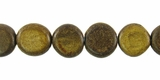 Burnt Horn Flat Disc Beads 10mm