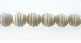 White Spiral Carved Bone Round Beads 8mm
