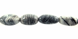 Black Picasso Jasper Nugget Beads 10-20mm