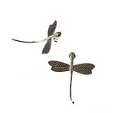 Thai Dragonfly Silver Pendant 43mmx36mm