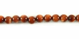 Red Round Goldstone  Beads