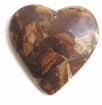 Brown Heart Banana Bark Inlay Pendant