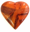 Orange Heart Banana Bark Inlay Pendant