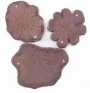 Magenta Sunflower Wood Pendants 54x40x3.5mm