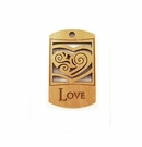 "Wooden Charm ""Love"" Pendant"