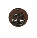 "Wooden Round Charm ""FAITH"" Pendant"