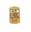 "Wooden Charm ""Joy"" Pendant"