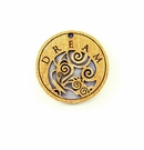 "Wooden Round Charm ""Dream"" Pendant"