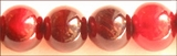 Red Horn Round Beads