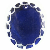 Violet Greenshell Round Pendant