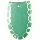 Dyed Green Tri-Oval Greenshell Pendant
