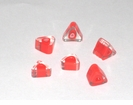Solid Red Triangle Furnace Glass Beads