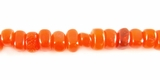 Orange Nugget Horn Beads 6mm