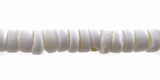 White PukaBeads 8x3mm