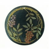 Khaki Green Round Laminated Capiz Shell 40mm