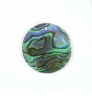 Paua Round Shell Pendants