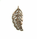 Metalcast Copper Medium Leaf Charm