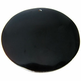 Black Oval Tab Shell Pendant
