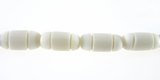 White bone carved oval 10x7mm