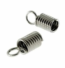 Nickel Plated Cord Ends 3.5mm