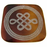 """Laser-etched Square """"Curvy"""" Tab Shell Pendant"""