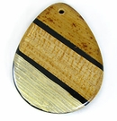 Banana & Corn Leaf Inlay Laminated Shell Pendants