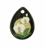 Drop Wood Pendant - Moth Orchid