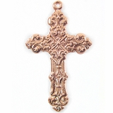 Metal Casted Cross Design Copper 60x35mm