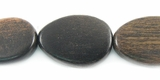 Flat Teardrop Tiger Ebony Wood Beads 12x16mm