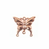 Metal Casted Butterfly Design Copper Pendants 23x17mm