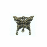 Metal Casted Butterfly Design Brass 23x17mm