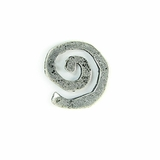 Metalcast  Antique Silver Small  Swirl Charm