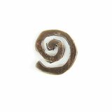 Metalcast Copper Small Swirl Charm