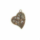 Metalcast Copper Hammered Heart Charm