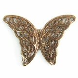 Metalcast Copper Butterfly Charm