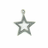 Metalcast Antique Silver Star Charm