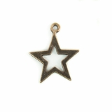 Metalcast Copper Star Charm