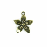 Metalcast Brass Extra Small Flower Charm