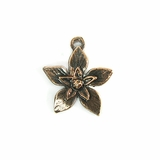 Metalcast Copper Extra Small Flower Charm