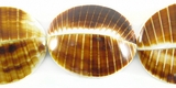 Brown Kaccol 4 Sided Shell Beads