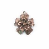 Metalcast Copper  Small Flower Charm