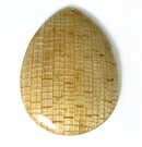 Teardrop Coco Banana Bark Inlay Pendant