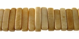 Tea Dyed Stick Bone Beads 15mm