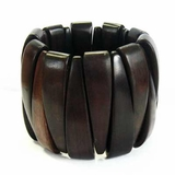 Black Ebony Wood Bangle Bracelet