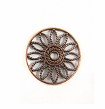Metalcast Copper Round Flower Pendant