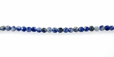 Round Faceted Brazilian Sodalite Beads 4-4.5mm